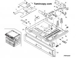 گیر کاغذ در کاستهای دستگاه فتوکپی شارپ: