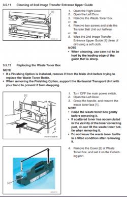 آموزش تخلیه مخزن پودر زائد دستگاه فتوکپی کونیکا مینولتا